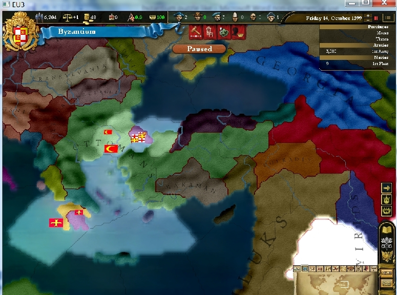 Puzzle or strategy? Byzantium in Europa Universalis III (1/2)